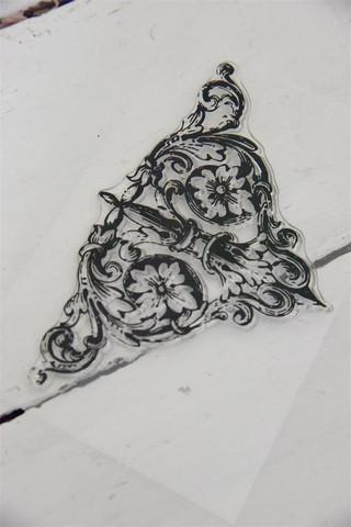 Leimasin - 9 x 13 cm - JDL Vintage Paint - Triangle