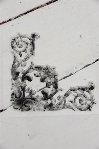 Leimasin - 13 x 13 cm - JDL Vintage Paint - Corner