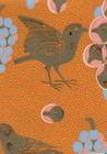 Ken kiuruista kaunein -tapetti, Pihlgren ja Ritola, oranssi
