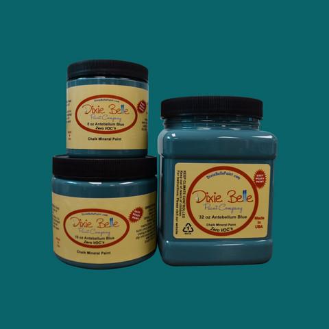 Kalkkimaali - Dixie Belle - Antebellum blue - Sinivihreä - 236 ml