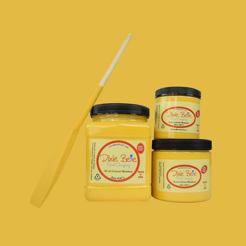 Kalkkimaali - Dixie Belle - Colonel Mustard - Sinapinkeltainen - 236ml