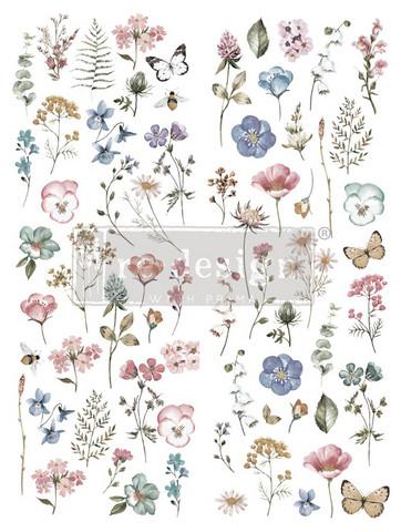 Siirtokuva - Delicate Fleur - 56 x 76 cm - Prima Re-Design