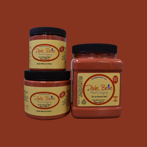 Kalkkimaali - Dixie Belle - Rusty Nail - Ruosteenpunainen - 473 ml