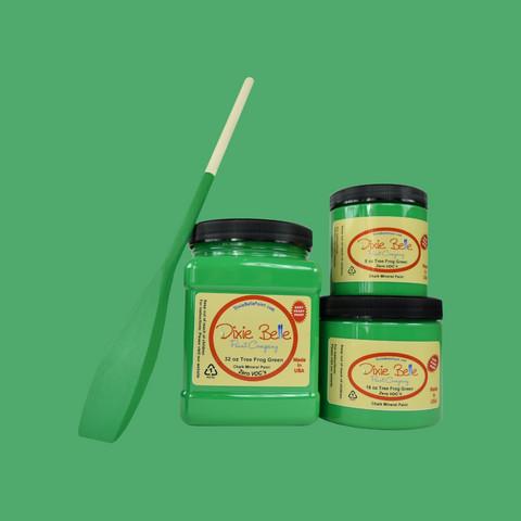 Kalkkimaali - Dixie Belle - Tree Frog Green - Puusammakonvihreä - 473 ml