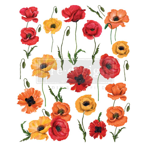 Siirtokuva - Poppy Gardens - 60 x 76 cm - Prima Re-Design