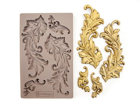 Silikonimuotti - 20x13 cm - Prima Re-Design - Baroque Swirls