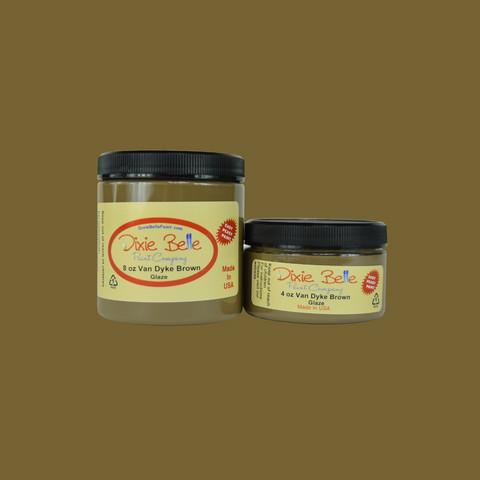Kuullote - Ruskea - Dixie Belle Glaze - Van Dyke Brown - 118 ml