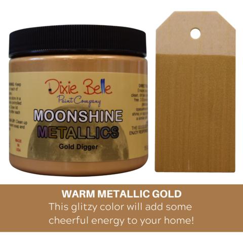 Kalkkimaali - Dixie Belle Moonshine Metallic - Kulta - Gold Digger