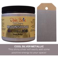 Kalkkimaali - Dixie Belle Moonshine Metallic - Hopea - Silver Bullet