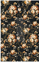 Decoupage-arkki - Dark Floral - Prima Redesign Decor Tissue Paper