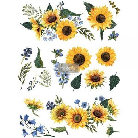 Siirtokuva - Sunflower Field - 76 x 55 cm - Prima Re-Design