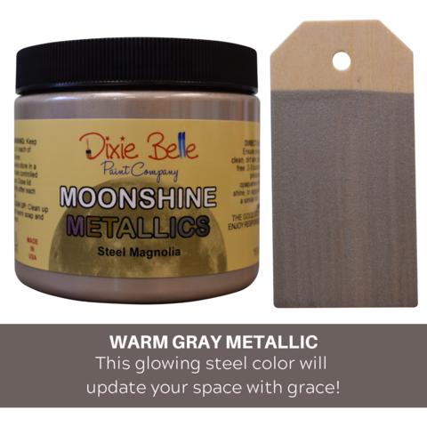 Kalkkimaali - Dixie Belle Moonshine Metallic - Teräs - Steel Magnolia