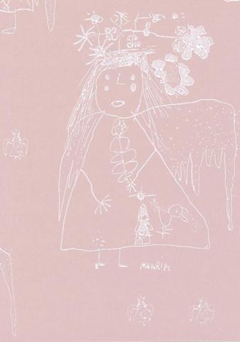 Enkeli-tapetti, Pihlgren ja Ritola, vaaleanpunainen
