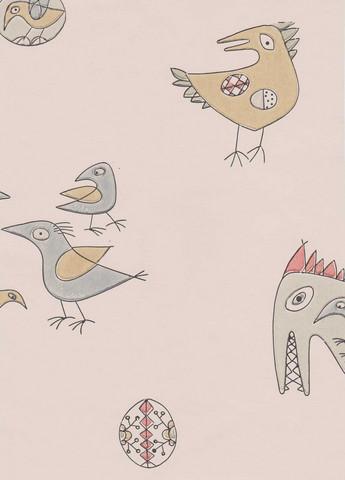 Fenix-lintu -tapetti, Pihlgren ja Ritola, Luonnonvalkoinen