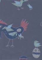Fenix-lintu -tapetti, Pihlgren ja Ritola, sininen