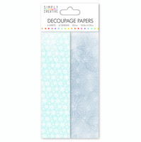 Decoupage-arkki - Lumihiutaleet - Sininen