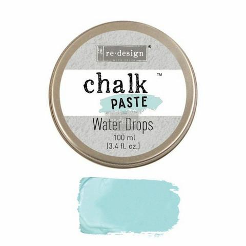 Kalkkitahna - Vaaleansininen - Water Drops - Chalk Paste Prima Re-Design