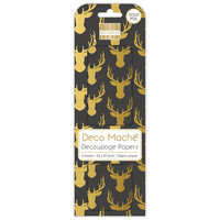 Decoupage-arkki - Gold Stags - Deco Mache