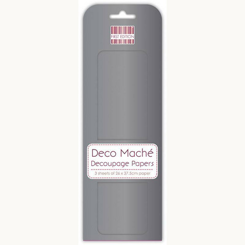 Decoupage-arkki - Gun Metal - Deco Mache