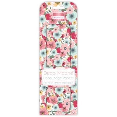 Decoupage-arkki - Floral Bloom - Deco Mache
