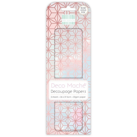 Decoupage-arkki - Rose Gold Geometric - Deco Mache