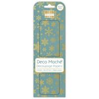 Decoupage-arkki - Gold Snowflakes - Deco Mache