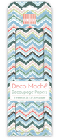 Decoupage-arkki - Tropical Chevron - Deco Mache