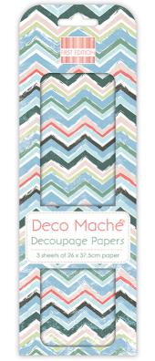 Decoupage-arkki - Tropical Chevron - Deco Mache
