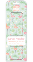 Decoupage-arkki - Flamingos & Foliage - Deco Mache