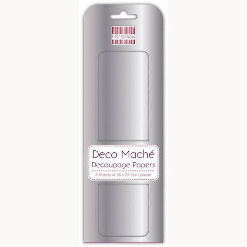 Decoupage-arkki - Metallic Silver - Deco Mache