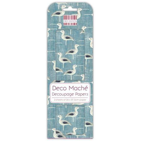 Decoupage-arkki - Curlew - Deco Mache