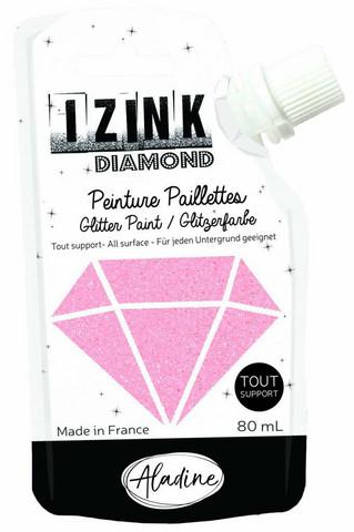 Glittermaali - Pinkki - Aladine Izink - Powder Pink - 80 ml
