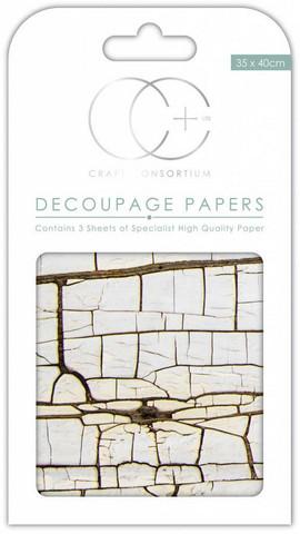Decoupage-arkki - Cracked Wood - Craft Consortium