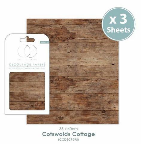 Decoupage-arkki - Cotswolds Cottage - Craft Consortium