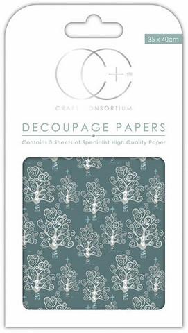 Decoupage-arkki - Silver Trees - Craft Consortium