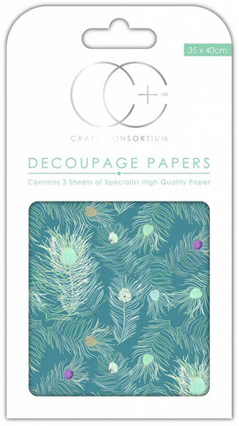 Decoupage-arkki - Peacock Blue - Craft Consortium