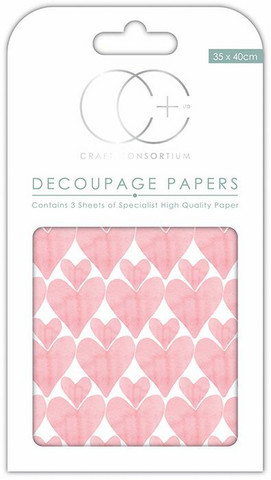 Decoupage-arkki - Love Hearts - Craft Consortium