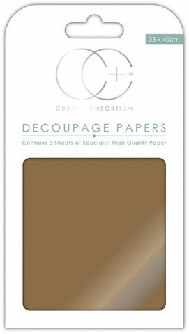 Decoupage-arkki - Metallic Antique Gold - Craft Consortium