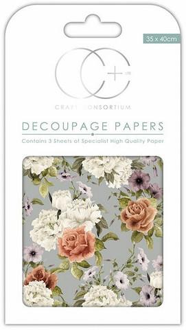Decoupage-arkki - Posy - Craft Consortium