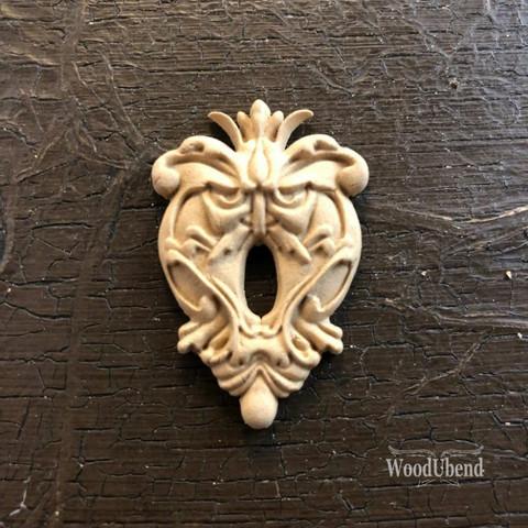 Puukoriste -  5 x 5 cm - WoodUBend  987