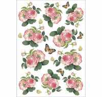 Decoupage-arkki - Roses Butterfly
