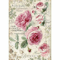 Decoupage-arkki - Botanic English Roses