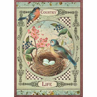 Decoupage-arkki - Country Life Birds