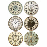 Decoupage-arkki - Clocks