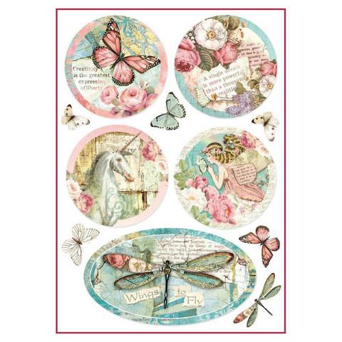 Decoupage-arkki - Wonderland Fantasy Decorations - A4