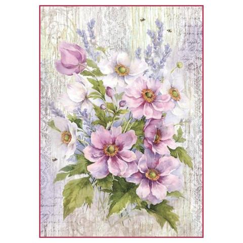 Decoupage-arkki - Liliac Bouquet - A4