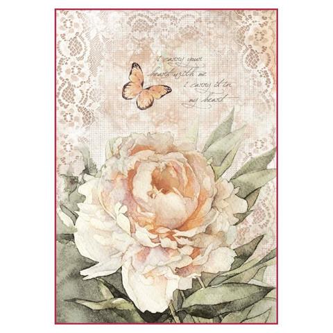 Decoupage-arkki - Vintage Rose Laces - A4