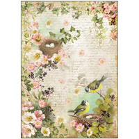 Decoupage-arkki - Birds With Nest