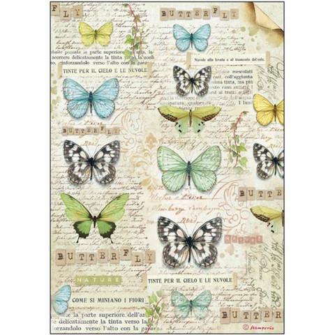 Decoupage-arkki - Butterfly - A4