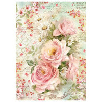 Decoupage-arkki - Roses and Daisies
